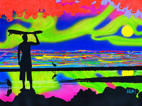 Surfscape Dreaming by EBENLO Artist