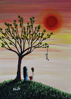 Surreal Landscape Art With Tree Of Life by Shawna Erback