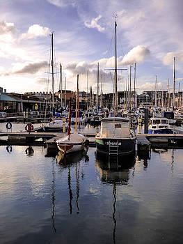 Sutton Harbour Marina Plymouth England by Lynn Bolt