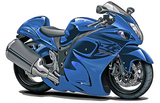 Suzuki Hayabusa Blue Bike by Maddmax