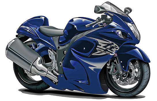 Suzuki Hayabusa Dark Blue Bike by Maddmax