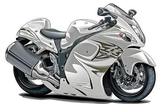 Suzuki Hayabusa White Bike by Maddmax