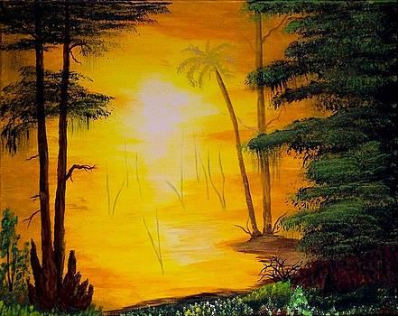 Swamp Sunrise by J Ringo