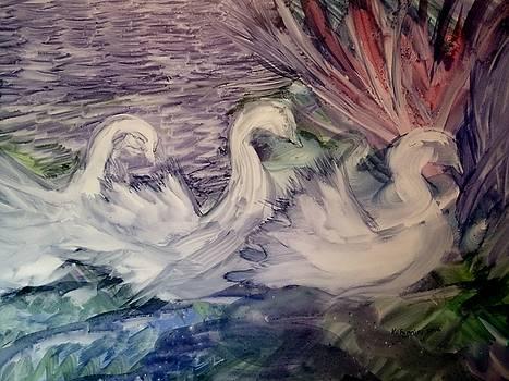 Swans by B Kathleen Fannin