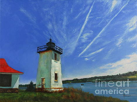 Swans Island Lighthouse by Janet Poirier
