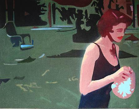 Sweet Woman with Bathing Cap by Geoff Greene