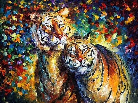 Sweetness - PALETTE KNIFE Oil Painting On Canvas By Leonid Afremov by Leonid Afremov