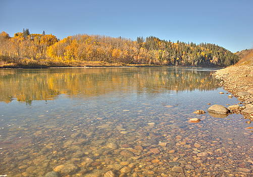 Swift Flowing Water - The North Saskatchewan River by Jim Sauchyn