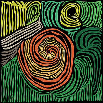 Swirl Woodcut 1 by Kevin McLaughlin