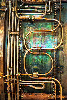 Swirls of Copper tubing by Dee Browning