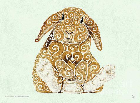Swirly Bunny by Carolina Matthes