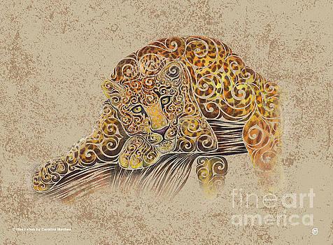 Swirly Leopard by Carolina Matthes
