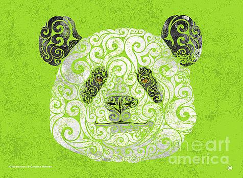Swirly Panda by Carolina Matthes
