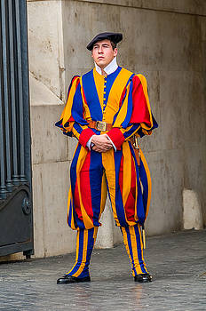 Swiss Guard St. Peter's Rome Italy by Xavier Cardell