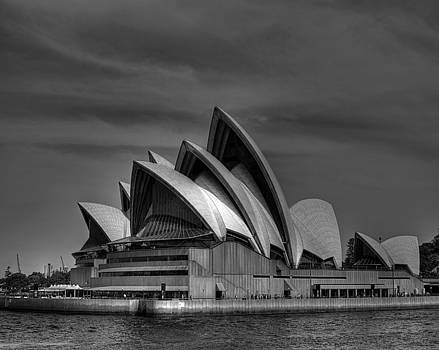 Chris Smith - Sydney Opera House Print Image in Black and White