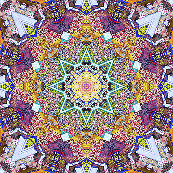 Symmetrical Colors Abstract by Phil Perkins