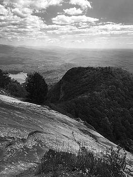 Table Rock Overlook in Black and White by Kelly Hazel