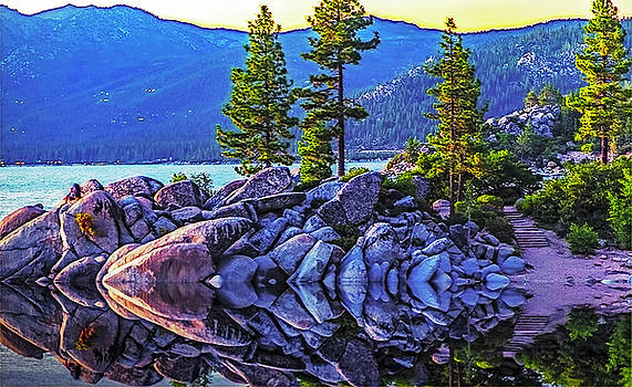 Tahoe Water Reflections by Nancy Marie Ricketts