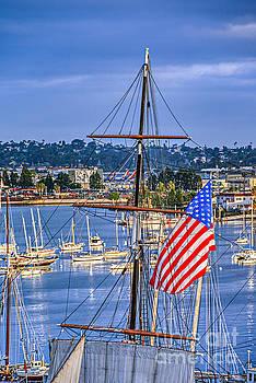 David  Zanzinger - Tall Ship American Flag