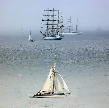 Tall Ships in the Mist by Lynn Bolt
