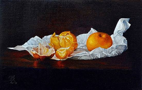 An offering of tangerines by Ralph Taeger
