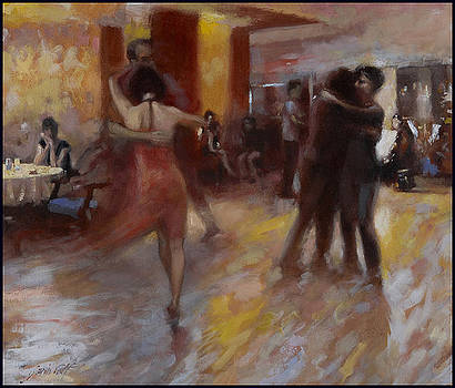 Tango at Cafe Pepenero by Gavin Calf
