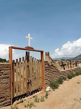 Taos Pueblo Cemetery by Gordon Beck