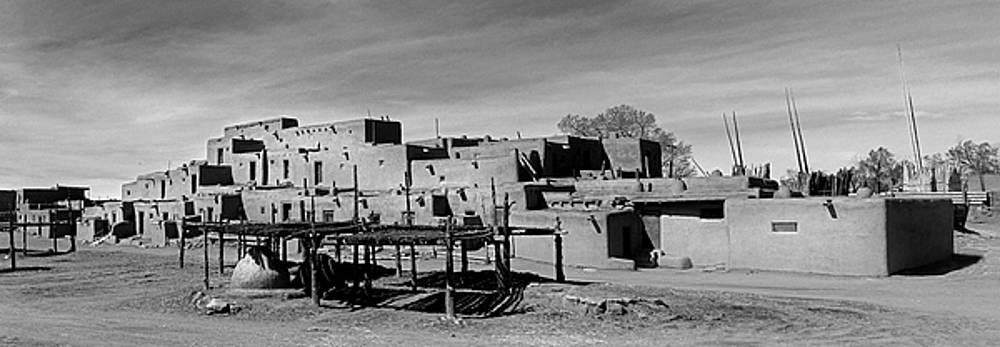 Taos Pueblo Panaroma 1 by Jeff Brunton