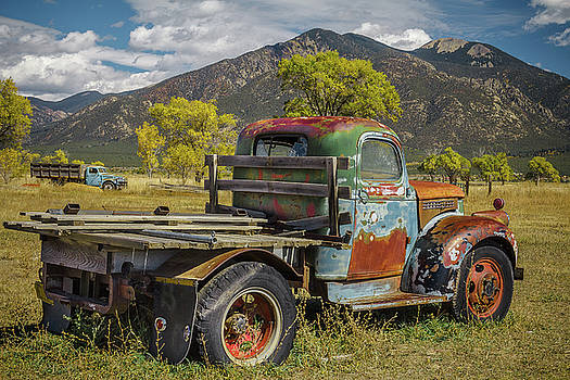 Taos Vintage Truck Duo by Steven Bateson