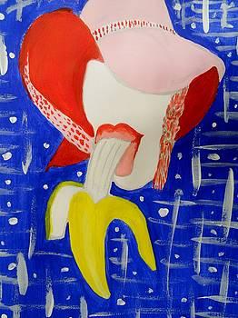 Tasting my Banana  by Nicole Burrell