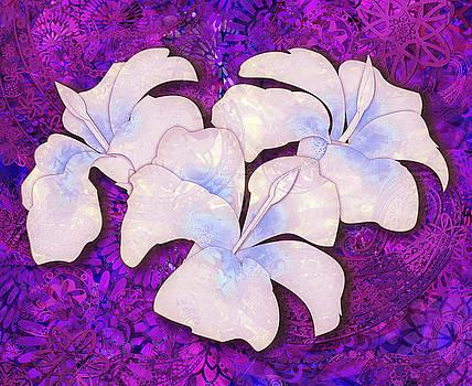 Tatoo Mandala Hibiscus - Deep Purple by Andrea Ribeiro