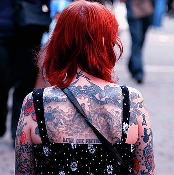 Tattoo lady colour by Paul Jarrett