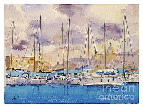 Ta'Xbiex yacht marina by Godwin Cassar
