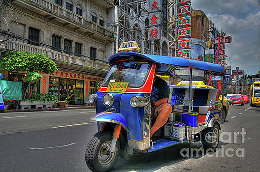 Taxi in Bangkok by Charuhas Images