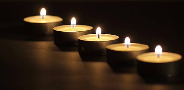 Tea Lights by Valerie Morrison
