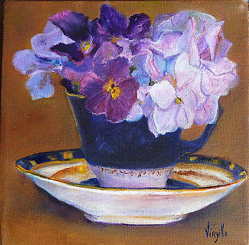 Teacup with Flowers by Virgilla Lammons