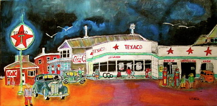 Teague Texaco 1940 by Michael Litvack