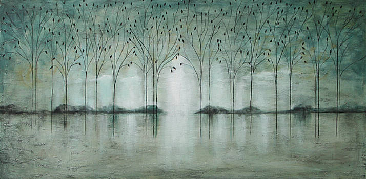 Teal Forest by Lauren  Marems