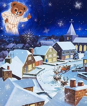 English School - Teddy Bear Christmas Card