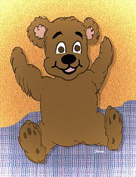 Teddy's First Portrait by Pharris Art