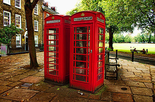 Telephone Boxes in Richmond by Nicky Jameson