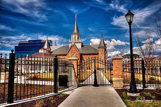 Temple Gates Provo City Center Temple by David Simpson