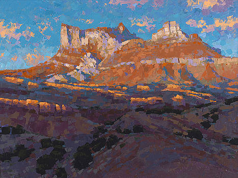 Temple Mountain Tapestry by Stephen Bartholomew