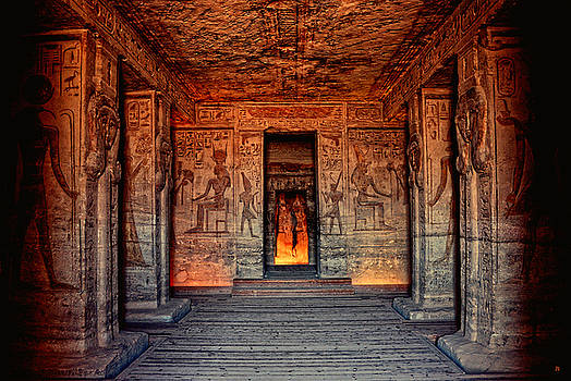 Temple of Hathor and Nefertari Abu Simbel by Nigel Fletcher-Jones