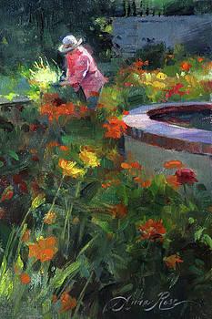 Tending the Dahlias by Anna Rose Bain