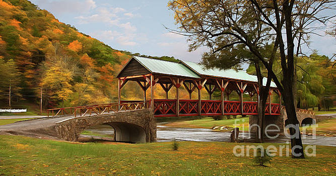 Dan Carmichael - Tennessee Bridge in Autumn on the Cherohala Skyway AP