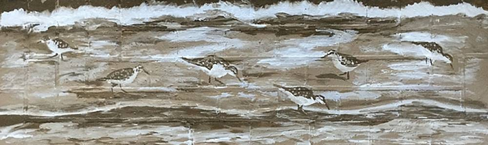 Teresa's sandpipers by Stan Tenney