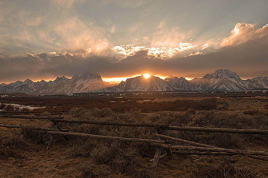 Teton Sunset by Amy Gerber
