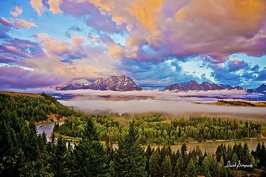Tetons Snake River by David Simpson