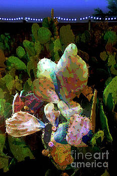 Texas Prickly Pear Posterized Photograph by Greg Kopriva